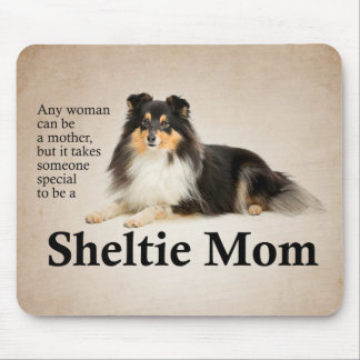 Tri-Color Sheltie Mom Mousepad