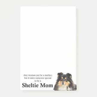 Tri-Color Sheltie Mom Post-It Notes