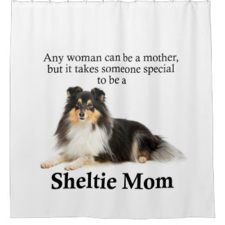 Tri-Color Sheltie Mom Shower Curtain