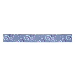 Tri-Color Swirl Pattern Satin Ribbon