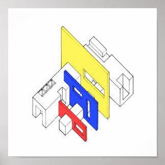 Tri Colour Archi Poster
