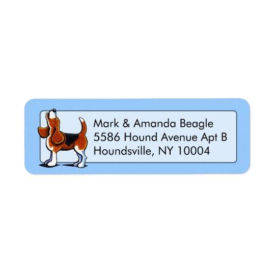 Tri-colour Beagle Bay Studio Blue Return Address Label