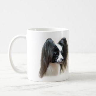 Tri-Colour Papillon Dog Coffee Mug