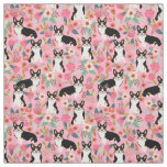 Tri Coloured Corgi Floral Fabric - cute corgis