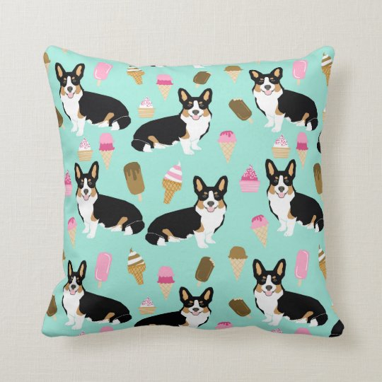 Tri Coloured Corgi Ice Cream pillow - cute corgis