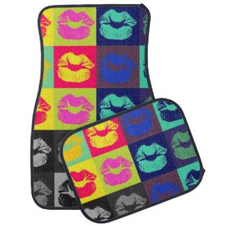 Tri couleurs de lèvres impertinentes tapis de voiture