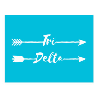 Tri Delta | Arrows Postcard