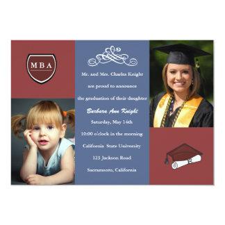 Tri invitation/faire-part d'obtention du diplôme carton d'invitation  12,7 cm x 17,78 cm