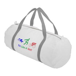 Tri Like A Girl duffle bag