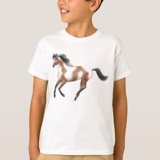 Tri Paint Horse Kids T-Shirt