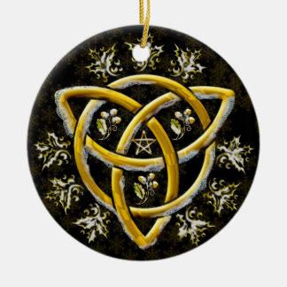 Tri-Quatra #16 Ceramic Ornament