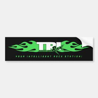 Tri-Rock Radio Flame(Black Bumper Sticker) Bumper Sticker