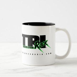 Tri-Rock Radio Swag White (Coffee Mug) Two-Tone Coffee Mug