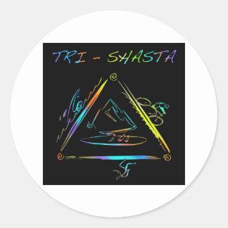 Tri Shasta Triathalon Logo Classic Round Sticker