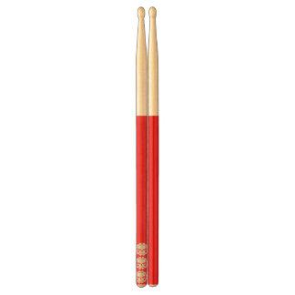 Tri-skull Red Drumsticks