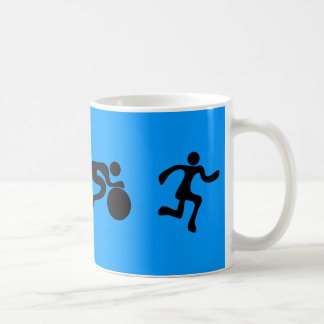 TRI Triathlon Swim Bike Run BLACK Bumper Design Coffee Mug