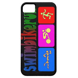 TRI Triathlon Swim Bike Run RAINBOW Design iPhone 5 Covers