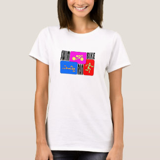 TRI Triathlon Swim Bike Run T-Shirt