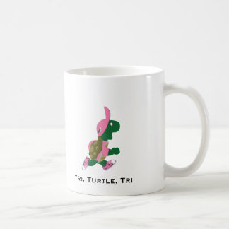 Tri, turtle, tri coffee mug
