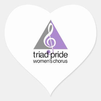 Triad Pride Women's Chorus Heart Sticker