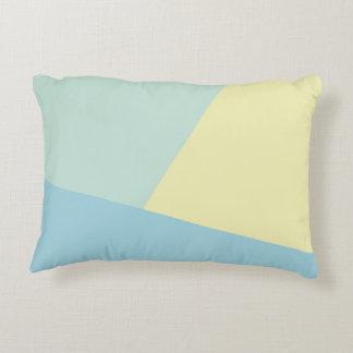 Triadic Tones - Modern Color Block Accent Pillow