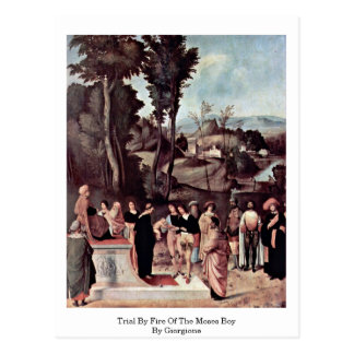 Trial By Fire Of The Moses Boy By Giorgione Postcard