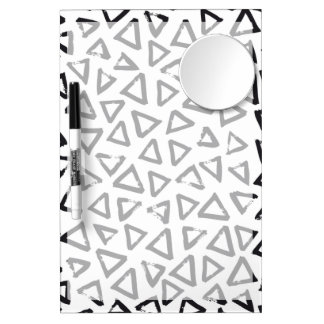 Triangels, Geometric  Scandinavian Design Pattern Dry Erase Board With Mirror