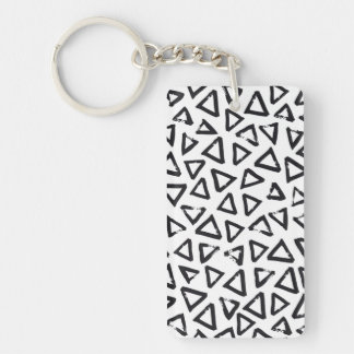 Triangels, Geometric  Scandinavian Design Pattern Keychain
