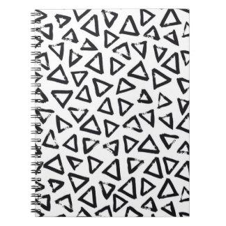 Triangels, Geometric  Scandinavian Design Pattern Notebooks