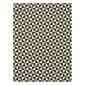 TRIANGLE1 BLACK MARBLE & BEIGE LINEN TABLECLOTH