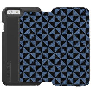 TRIANGLE1 BLACK MARBLE & BLUE DENIM INCIPIO WATSON™ iPhone 6 WALLET CASE
