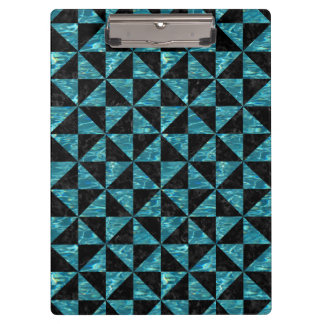 TRIANGLE1 BLACK MARBLE & BLUE-GREEN WATER CLIPBOARD