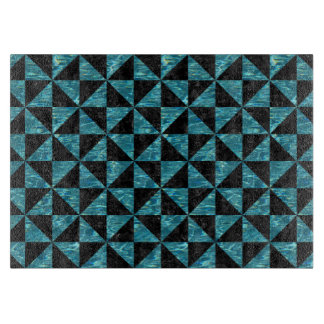 TRIANGLE1 BLACK MARBLE & BLUE-GREEN WATER CUTTING BOARD