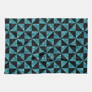 TRIANGLE1 BLACK MARBLE & BLUE-GREEN WATER KITCHEN TOWEL