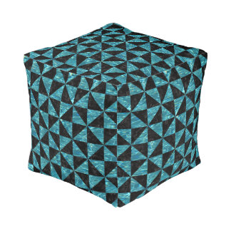 TRIANGLE1 BLACK MARBLE & BLUE-GREEN WATER POUF