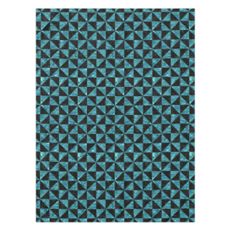 TRIANGLE1 BLACK MARBLE & BLUE-GREEN WATER TABLECLOTH
