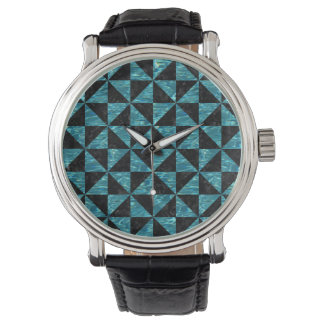 TRIANGLE1 BLACK MARBLE & BLUE-GREEN WATER WATCH