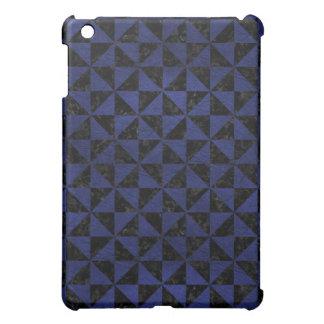 TRIANGLE1 BLACK MARBLE & BLUE LEATHER iPad MINI COVERS