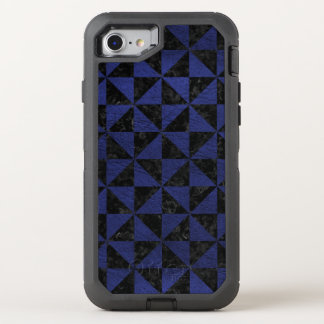 TRIANGLE1 BLACK MARBLE & BLUE LEATHER OtterBox DEFENDER iPhone 8/7 CASE