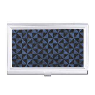 TRIANGLE1 BLACK MARBLE & BLUE STONE BUSINESS CARD HOLDER