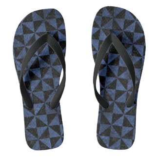 TRIANGLE1 BLACK MARBLE & BLUE STONE FLIP FLOPS