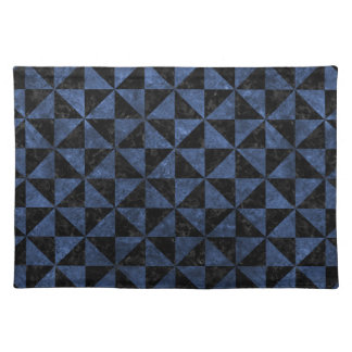 TRIANGLE1 BLACK MARBLE & BLUE STONE PLACEMAT