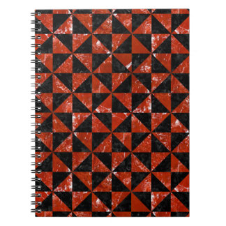 TRIANGLE1 BLACK MARBLE & RED MARBLE NOTEBOOK