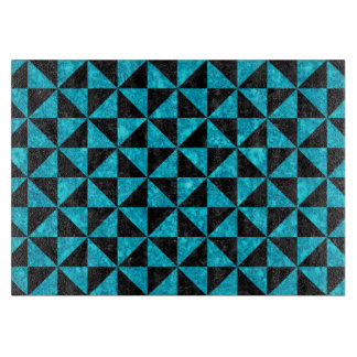 TRIANGLE1 BLACK MARBLE & TURQUOISE MARBLE CUTTING BOARD