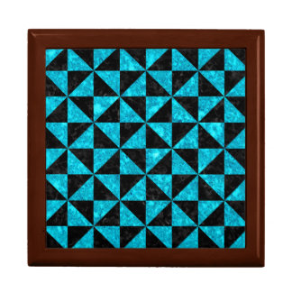TRIANGLE1 BLACK MARBLE & TURQUOISE MARBLE GIFT BOX