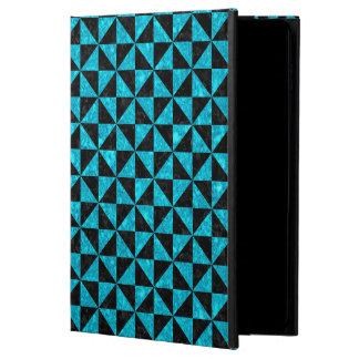 TRIANGLE1 BLACK MARBLE & TURQUOISE MARBLE POWIS iPad AIR 2 CASE