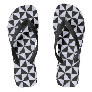 TRIANGLE1 BLACK MARBLE & WHITE MARBLE FLIP FLOPS
