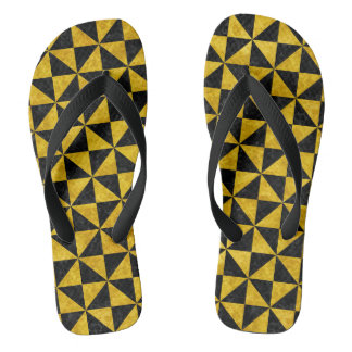 TRIANGLE1 BLACK MARBLE & YELLOW MARBLE FLIP FLOPS