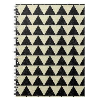 TRIANGLE2 BLACK MARBLE & BEIGE LINEN NOTEBOOKS