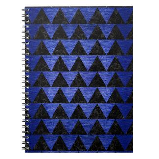 TRIANGLE2 BLACK MARBLE & BLUE BRUSHED METAL SPIRAL NOTEBOOK